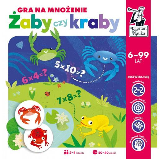 Gra Edukacyjna Kapitan Nauka. Żaby czy kraby? Gra na mnożenie