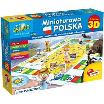 Gra Edukacyjna Mały Geniusz - Miniaturowa Polska 3D