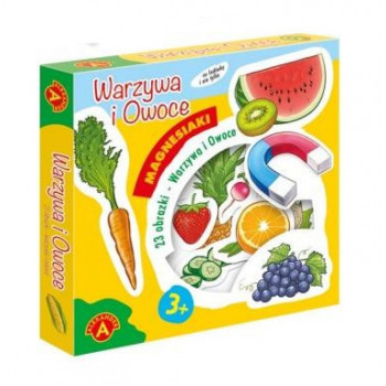 Gra Edukacyjna Magnesiaki - Warzywa i owoce ALEX