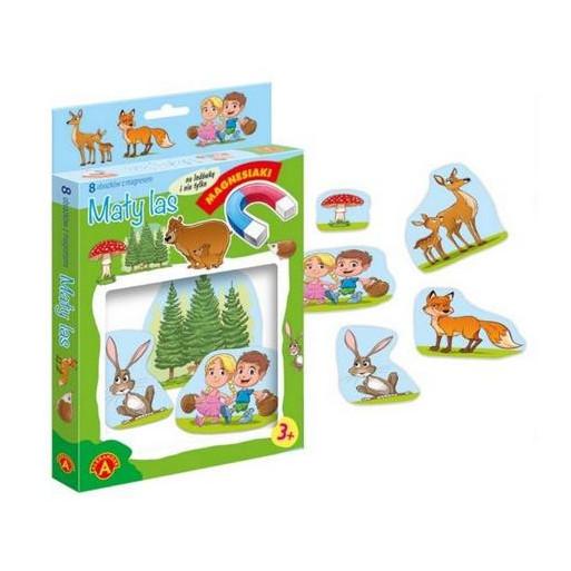 Gra Edukacyjna Magnesiaki - Mały las ALEX