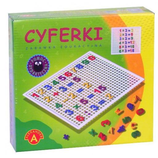 Gra Edukacyjna Cyferki w pudełku ALEX