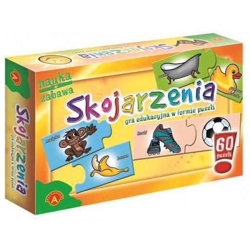Gra Edukacyjna Puzzle - Skojarzenia ALEX