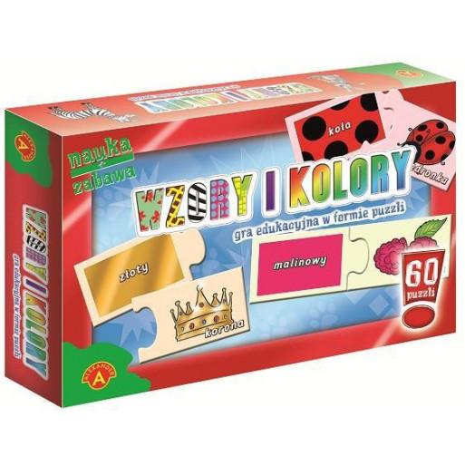 Gra Edukacyjna Puzzle - Wzory i kolory ALEX