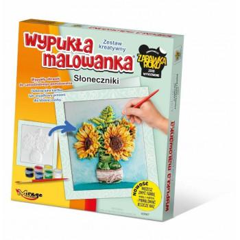 Wypukła Malowanka Kwiaty - Słoneczniki