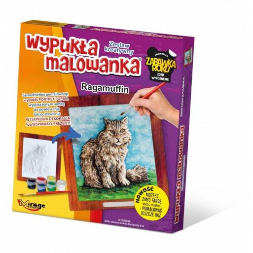 Wypukła malowanka Koty - Ragamuffin