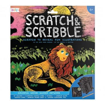 Zdrapywanki Scratch & Scribble Safari