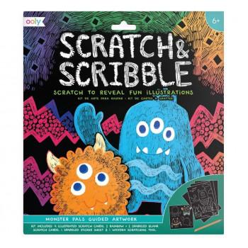 Zdrapywanki Scratch & Scribble Potworki