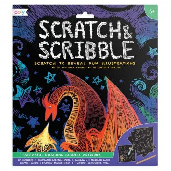 Zdrapywanki Scratch & Scribble Fantastyczne smoki