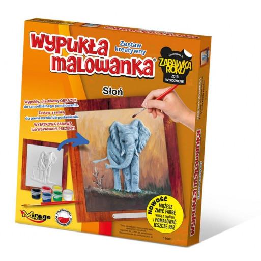 Wypukła Malowanka Zoo - Słoń