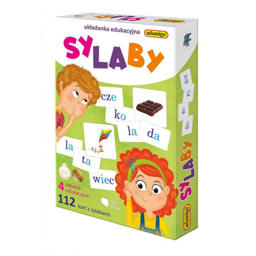 Gra Edukacyjna Układanka - Sylaby