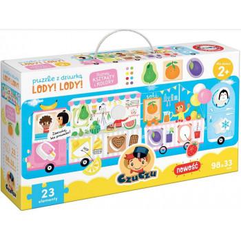 Gra Edukacyjna Puzzle z dziurką Lody! Lody!