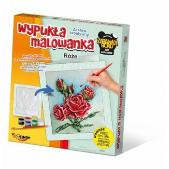 Wypukła Malowanka Kwiaty - Róże