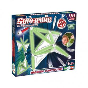 Supermag Tags Glow 48 El. Klocki Magnetyczne