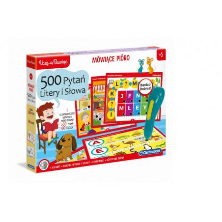 Gra Edukacyjna Mówiące Pióro 500 pytań - Litery i Słowa