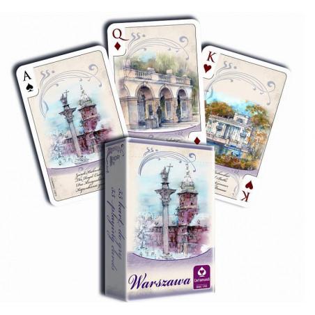 WARSZAWA AKWARELE - talia 55 kart