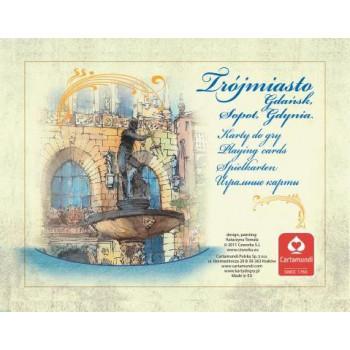 TRÓJMIASTO AKWARELE - komplet brydżowy 2x55 kart