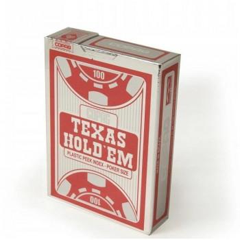 Karty do gry Texas Hold'm Poker czerwone CARTAMUND