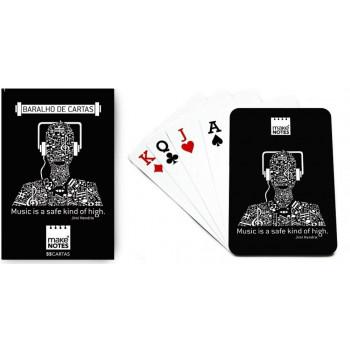 Music Karty do gry słuchawki czarne 55 kart