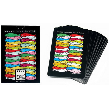 Sardines Karty do gry czarne talia 55 kart