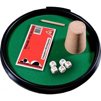 Kości pokerowe z tacką, kubkiem i bloczkiem 1