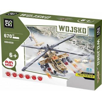Klocki Blocki Wojsko Helikopter