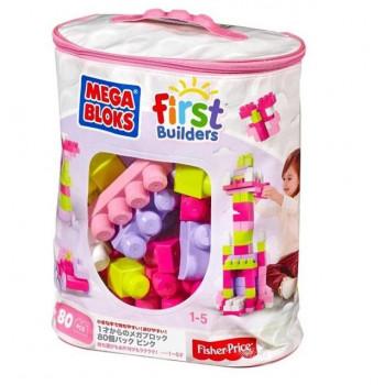 Mega Bloks Klocki w torbie 80 el. różowe