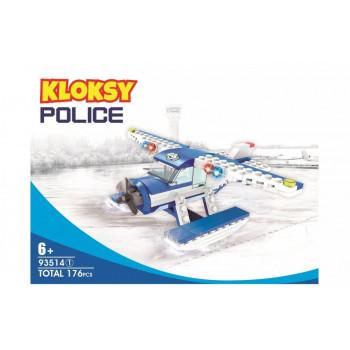 Klocki Kloksy Policja wodolot patrolowy 176 el.