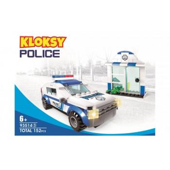 Klocki Kloksy Policja wóz patrolowy 152 elementy