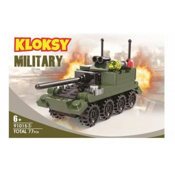 Klocki Kloksy Armia wóz pancerny 77 elementów