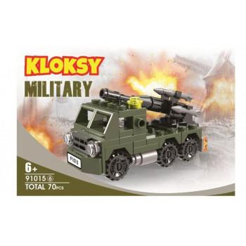 Klocki Kloksy Armia wyrzutnia rakiet 70 elementów