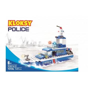 Klocki Kloksy Policja łódź patrolowa 141 elementów