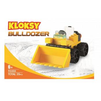 Klocki Kloksy Maszyny budowlane buldożer 35 el.