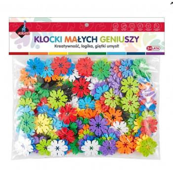 Klocki kwiatki 140 elementów