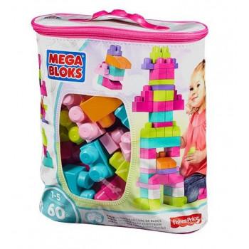 Mega Bloks Duża ECO torba z klockami różowa