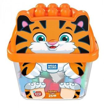 Mega Bloks. Wesoły tygrysek z klockami