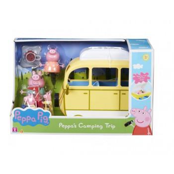 Peppa Pig - Kamper z akcesoriami + 4 figurki
