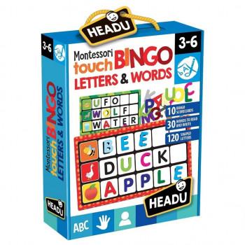 Zabawa w bingo - słowa i litery HEADU