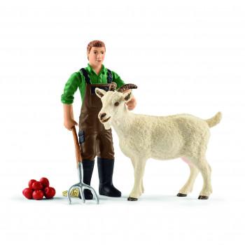 Schleich Farmer Z Kozą 42375