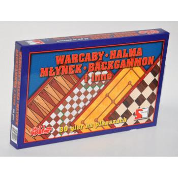 Zestaw gier - Warcaby, halma i inne SAMO-POL