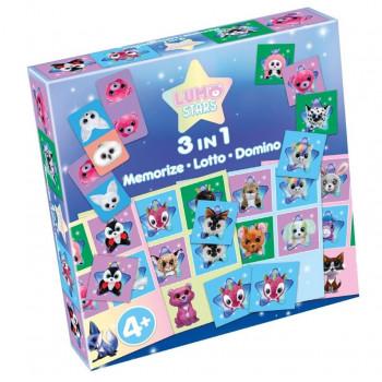 Lumo Stars 3w1: Memorize, Lotto, Domino
