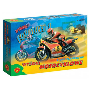 Wyścigi motocyklowe 2 gry planszowe ALEX