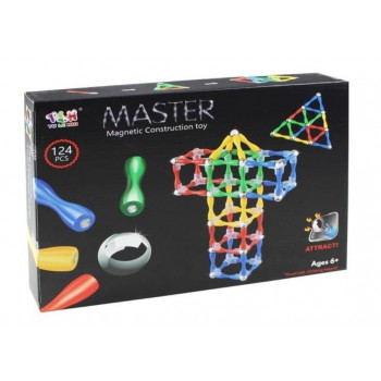 Klocki magnetyczne Master 124 el.