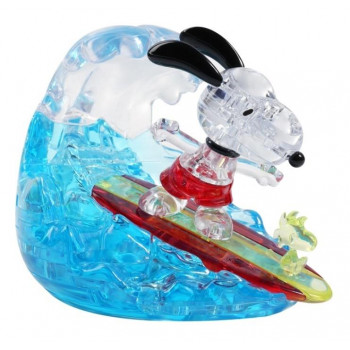 Crystal puzzle Snoopy Surfer