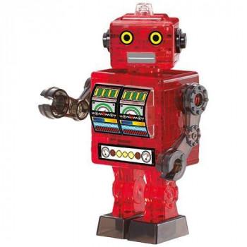 Crystal puzzle Robot czerwony