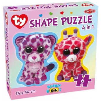 Puzzle Ty 4w1 Beanie Boo's Shape