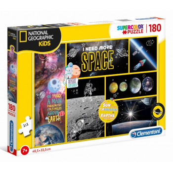 Puzzle 180 National Geo Kids I need more Space
