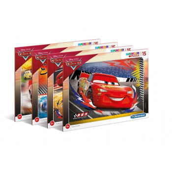 Puzzle ramkowe 15 Super kolor Cars