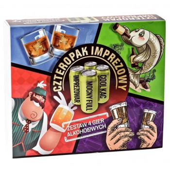 Czteropak imprezowy - zestaw 4 gier alkoholowych
