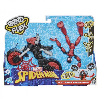 Spider-Man Bend and Flex figurka 15cm + motocykl