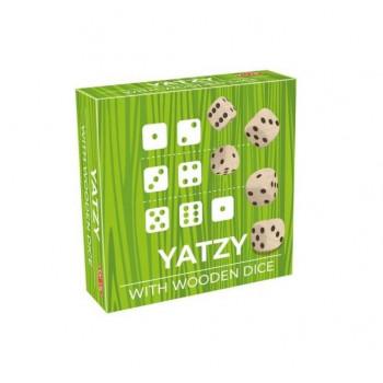 Yatzy drewniane kostki - gra w kości
